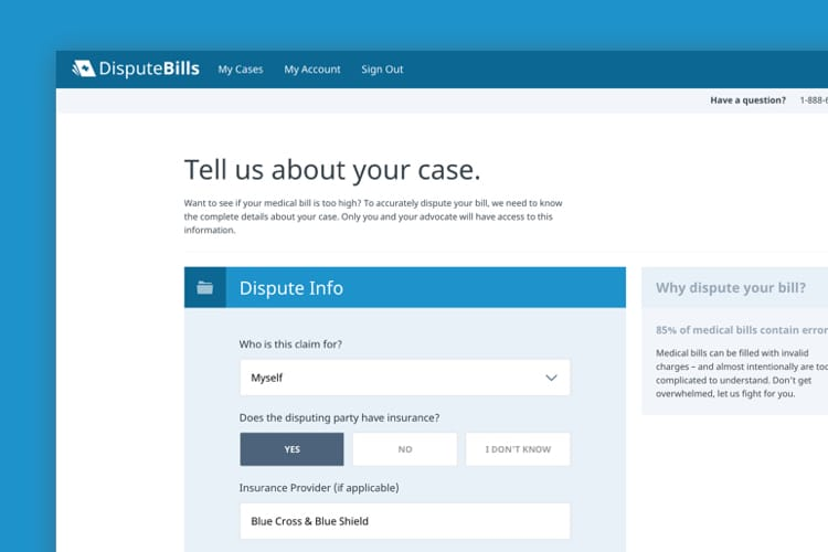 Dispute Bills web form