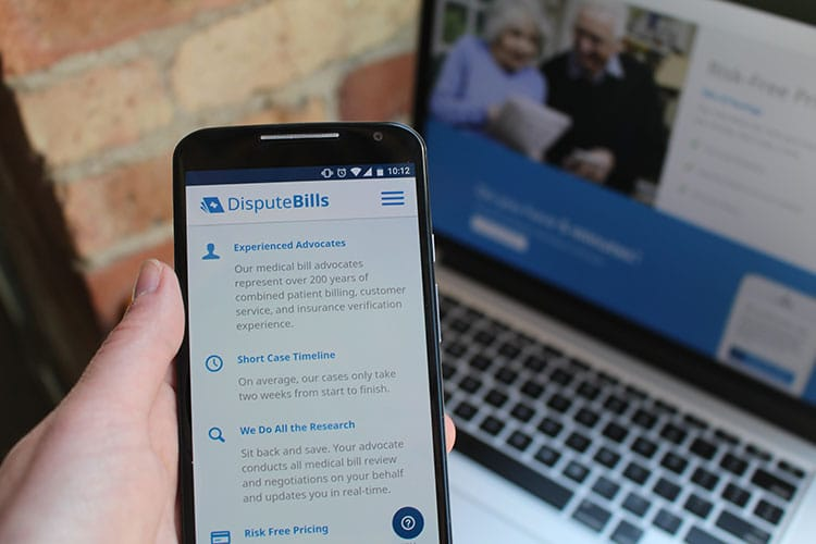 Dispute Bills Mobile and Web Interface