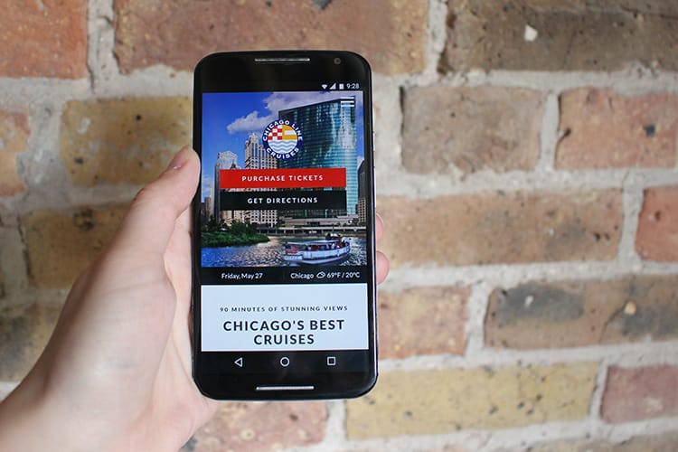 Chicago Cruise Lines Mobile site