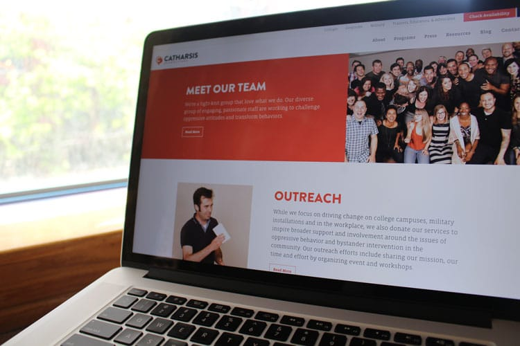 Catharsis homepage and about the staff