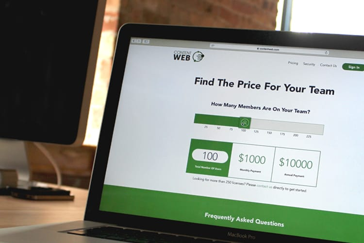 Content Web pricing plans