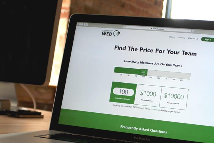 Content Web pricing plans