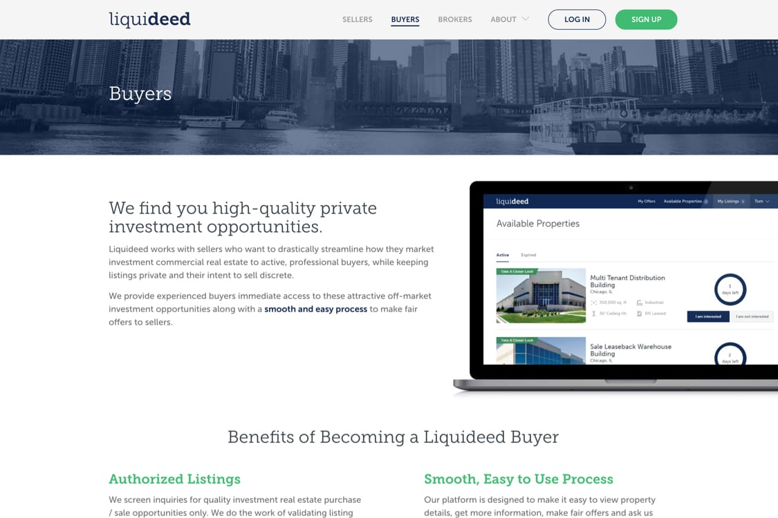 buyer interface site