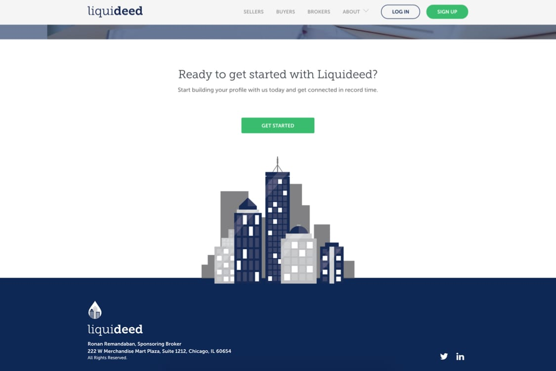 liquideed site interface