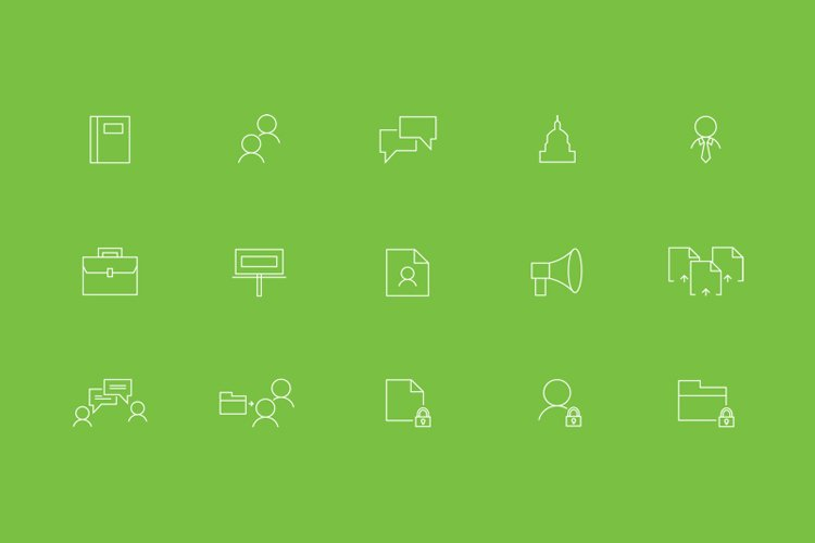 Content Web icons