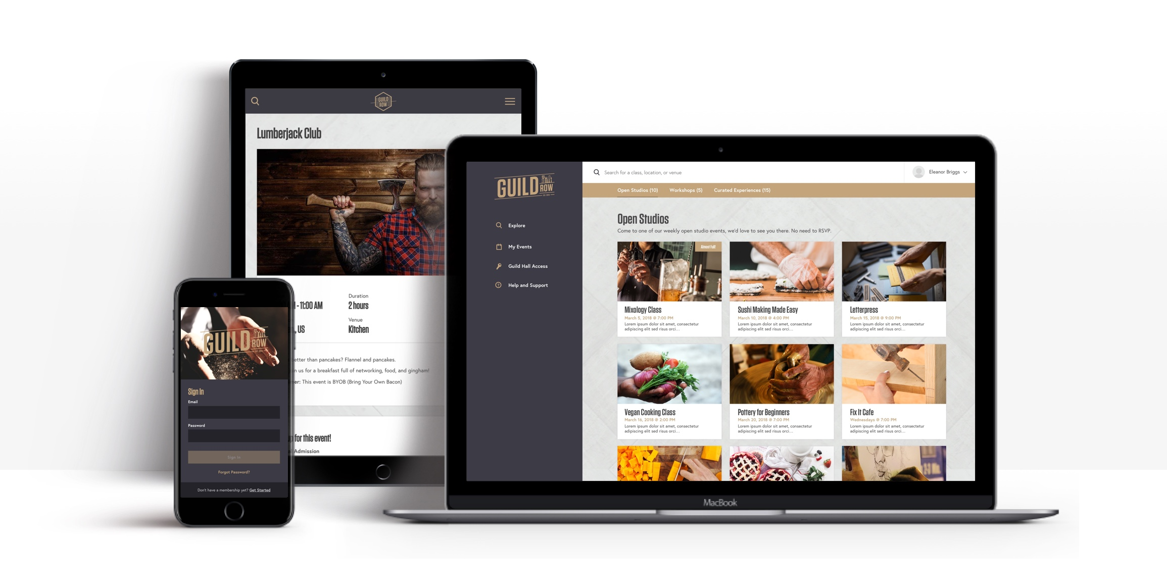 Guild Row - Responsive Layouts
