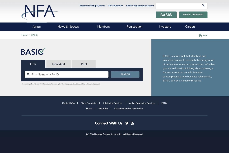 NFA - Landing Page
