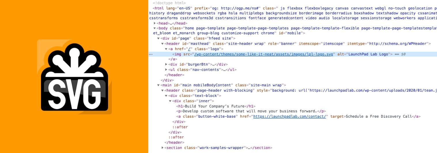 Upload SVG images when enabling the SVG Support plugin.