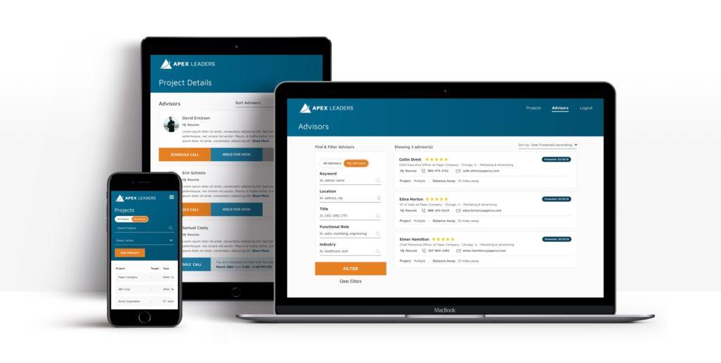 Apex Leaders - Responsive UI Screenshots