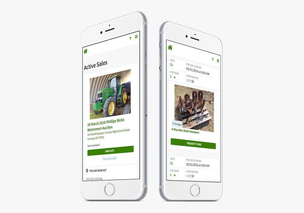 NextLot Mobile Screens